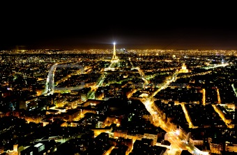 Panoramic view of Paris from the Monparnas tower