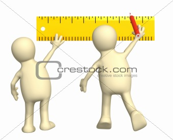 Puppets with ruler