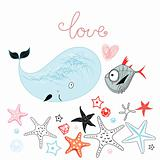 whale and fish lovers