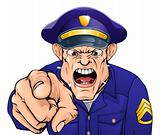 Angry policeman