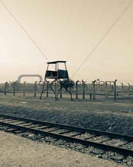 Watch tower at Auschwitz