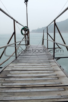 hong kong Swimming Shed in sea