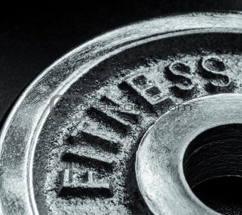 Fitness text close up