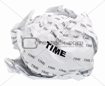 crumpled time