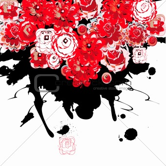 Abstract background with stylized fowers