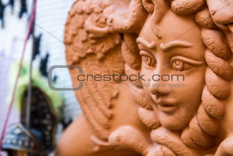 A ceramic trinacria