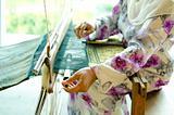 Songket weaver