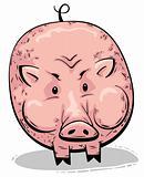 Big fat pink pig