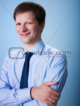 portrait of confident adult businessman