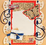 Old Scrapbook Photo Frame