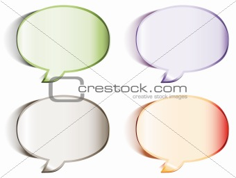 Speech bubbles stickers