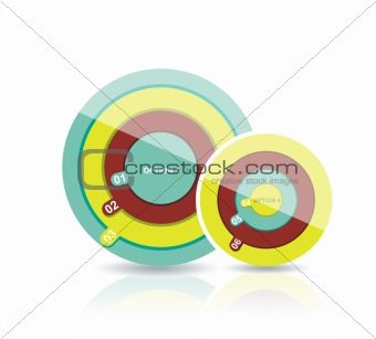 abstract number circles background