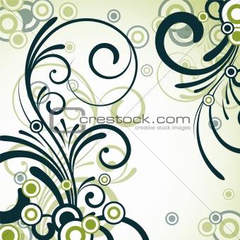 green floral design