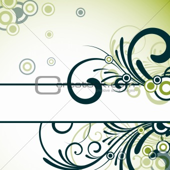 text frame with floral design