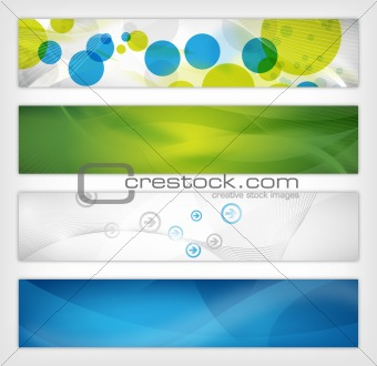 abstract website header