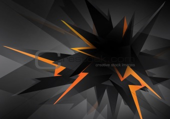 Abstract Futuristic Lightning Design