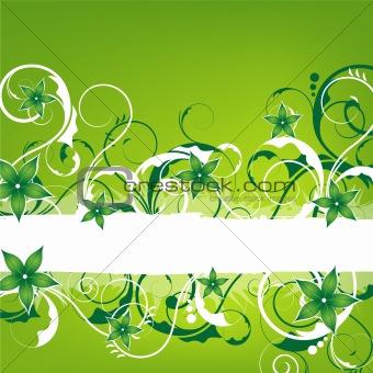 green springlike vintage design