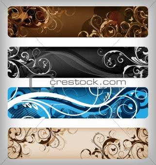 floral vector designs / banner
