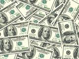 Background of money pile 100 USA dollars