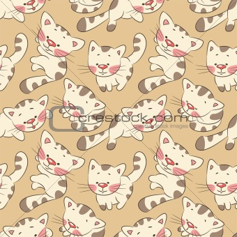 Seamless pattern - kittens