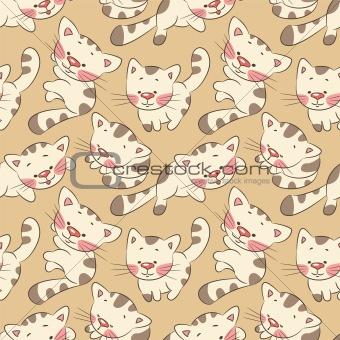 Seamless pattern - kittens
