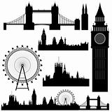vector London landmarks