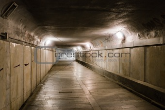 Old abandoned underground tunnel