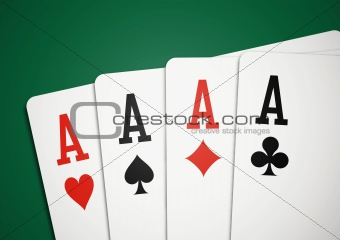 Cards - four aces