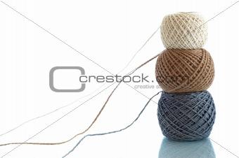 Three balls of rope