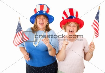 Stock Photo of Enthusiastic American Voters