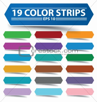 Blank colour strips