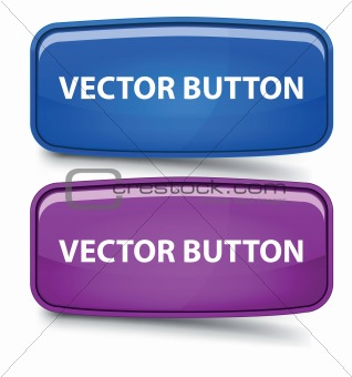 Rectangular Glass Buttons