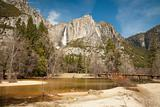 Upper Falls and Merced River at Yosemite on a Spring Day.