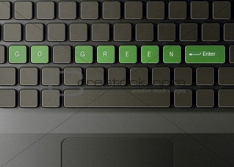 Keyboard with go green button