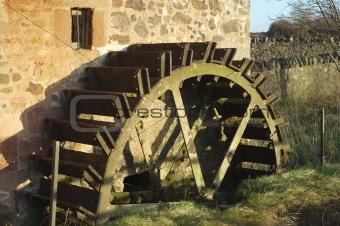 old mill wheel at Preston Mill, East Linton