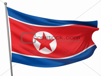 Korea, North National Flag  - All Countries Collection - Isolated Image