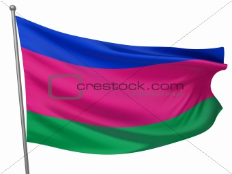 Kuban People&#39;s Republic National Flag  - All Countries Collection - Isolated Image