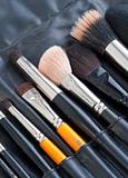 set of professional make-up artist´s brushes