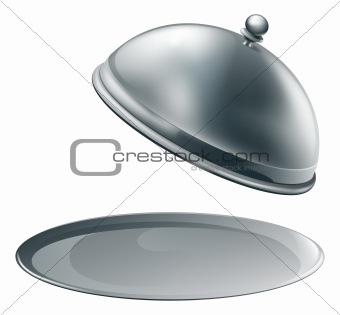 Open silver platter