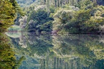 Beautiful Reflection on the River near Split, Croatia