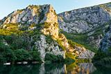 Canyon of the River near Split, Croatia