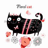 funny cat flower