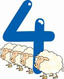 number four and 4 sheeps