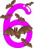 number six and 6 bats