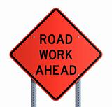 Panneau - Road work ahead
