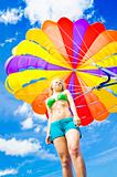 Parasailing On Summer Vacation