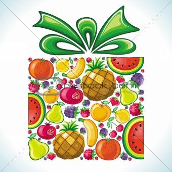 Fruity present. Fruit gift box.