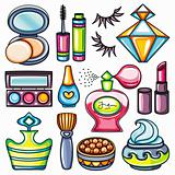 Make-up icon set. Beauty series