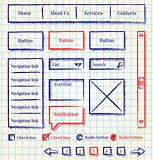 Website wireframes template design sketch style kit