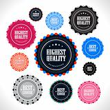 Collection of vintage style premium quality badges